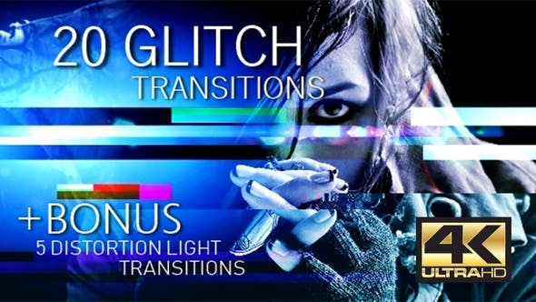 Glitch Transitions 4K by TopStyler | VideoHive