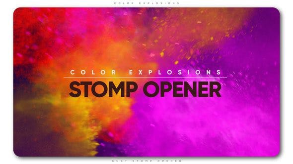 Color Explosions Stomp Opener by TranSMaxX | VideoHive
