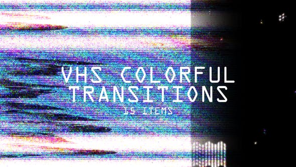 VHS Colorful Transitions by Alexwish | VideoHive