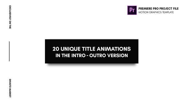 Animated Titles - Essential Graphics | Mogrt by aliyarmikayilov