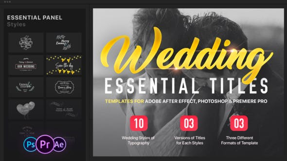 Essential Wedding Titles Mogrt For Premiere By Easyedit