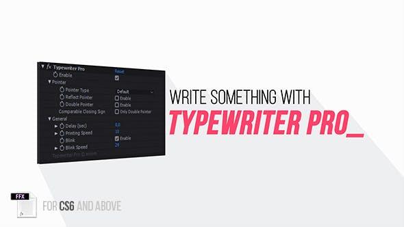 Typewriter Pro by aniom | VideoHive