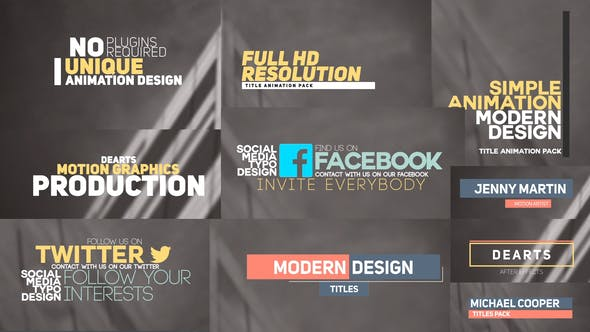 80 Title and Lower Third by dearts | VideoHive