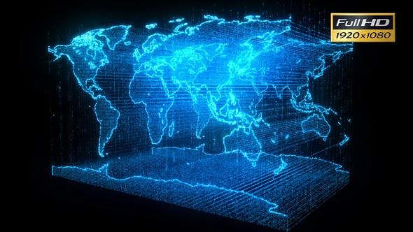 Earth Map Hologram by TH_design | VideoHive