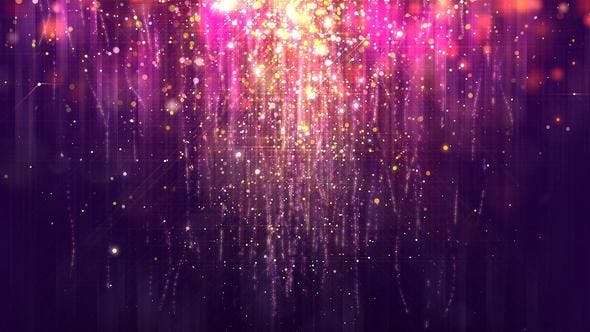 Purple Gold Glossy Rain Background with Glitter Particles ...
