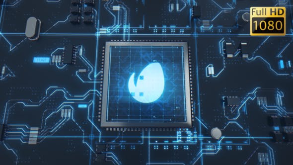 Hi-Tech Chip Logo Reveal by 4madeit | VideoHive