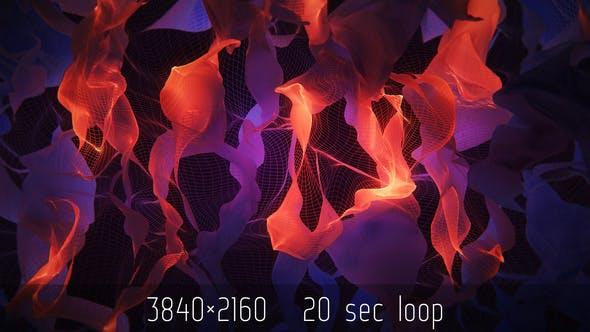 Cloth Flame Abstract VJ Loop 4K by Kosmos | VideoHive