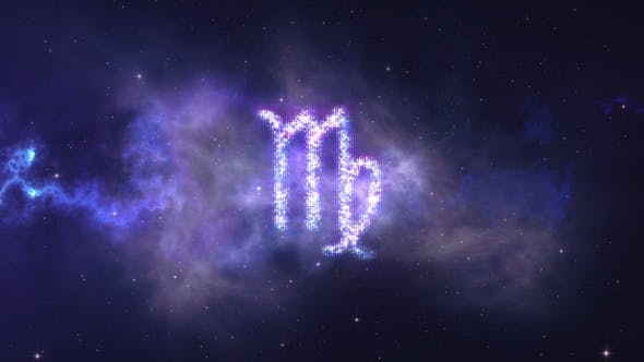 Zodiac Sign Virgo Forming From the Stars with Space