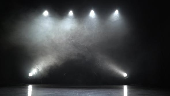 Stage Lights Square Smoke Background By Kinomaster Videohive