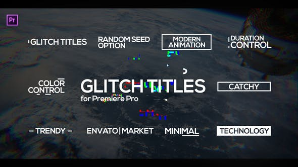 Glitch Titles for Premiere Pro | Essential Graphics by motionshape