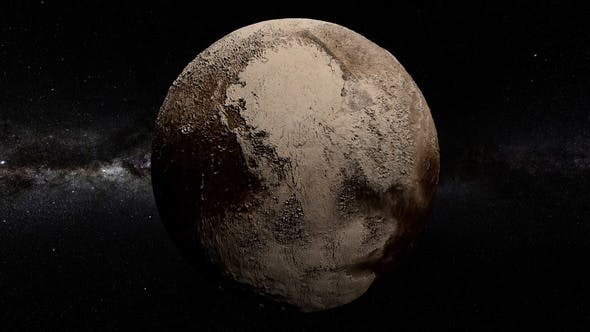 Pluto 360 Rotation Seamless Loop by footager | VideoHive