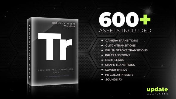 600+ Pack: Transitions, Light Leaks, Color Presets, Sound FX by