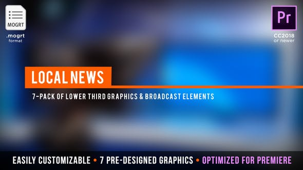 Local News Broadcast | MOGRT for Premiere Pro by