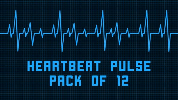 Heartbeat Pulse - Pack of 12 by AhmedZaggoudi | VideoHive