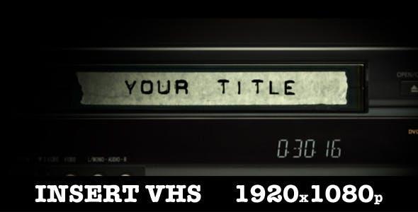Insert Vhs Title by mizukovideo | VideoHive