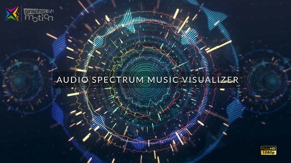 Audio Spectrum Music Visualizer by graphicINmotion | VideoHive