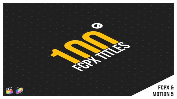 100 Titles   FCPX or Apple Motion