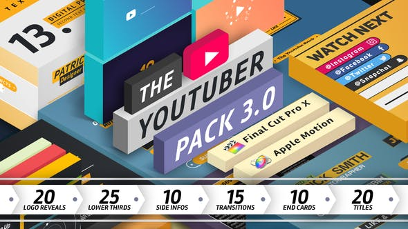 The YouTuber Pack 3 0 - Final Cut Pro X by digitalproducts669