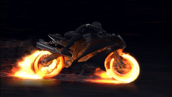 Motorcycle Fire Reveal by Voxyde | VideoHive