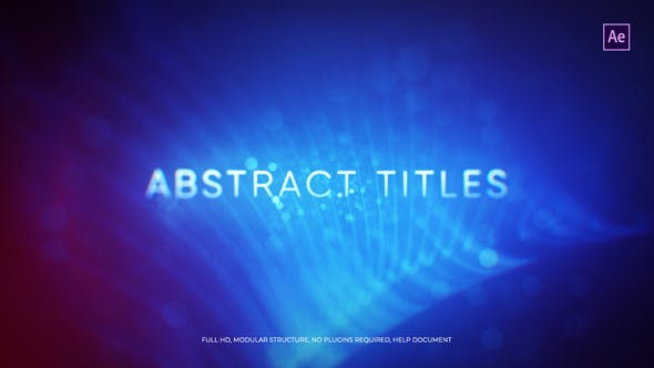 Videohive Abstract Titles Free Download