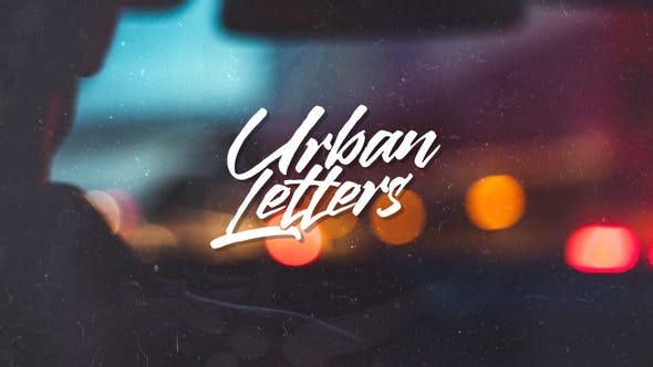 Videohive Urban Letters Free Download