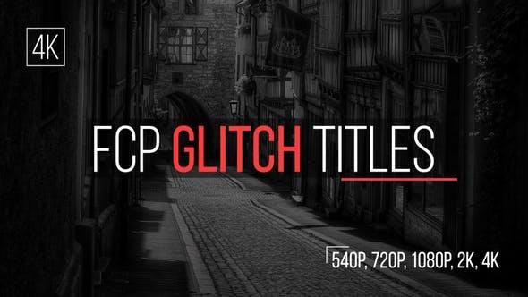 FCP Glitch Titles