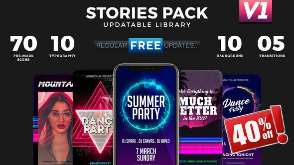 Instagram Stories Library by PixelBrainCS | VideoHive