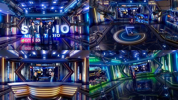 3D Virtual Set After Effects Templates from VideoHive