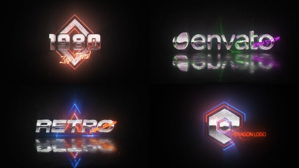 Retro Wave Logo by VladimirPerumov | VideoHive