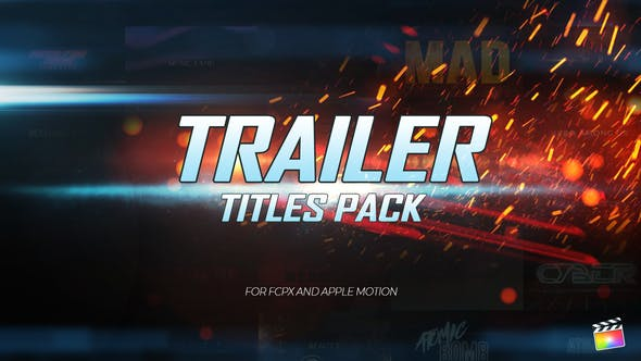 Trailer Titles Pack for Apple Motion and FCPX by