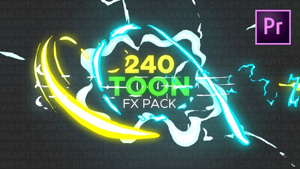240 Toon FX Pack Premiere by dearts | VideoHive