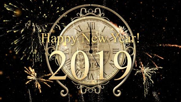 New Year Countdown Clock 2019 by IronykDesign | VideoHive