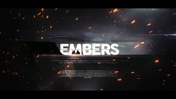 Embers Cinematic Trailer for Apple Motion and FCPX by