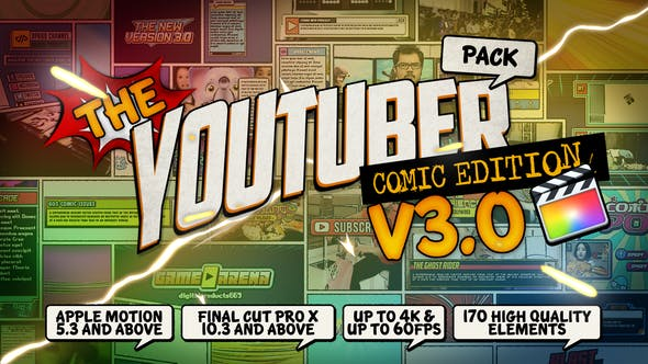 The YouTuber Pack - Comic Edition V3 0 - Final Cut Pro X