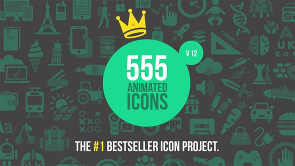 555 Animated Icons by risto | VideoHive