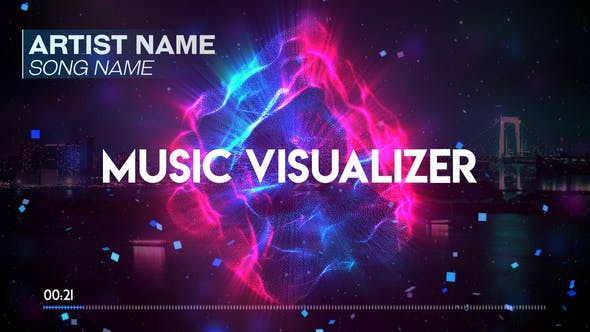 Audio Spectrum Music Visualizer by ShinyVisuals | VideoHive