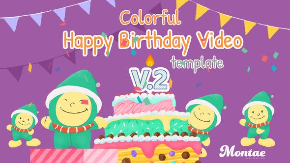 Colorful Hy Birthday Video Template V 2