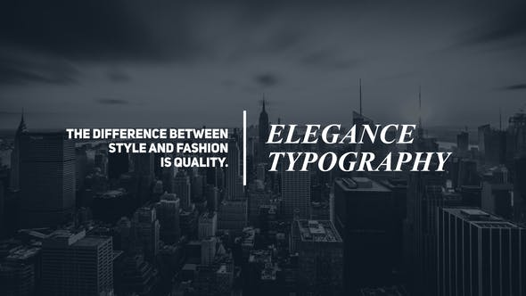 Videohive Minimal Typography 22953634 Free Download