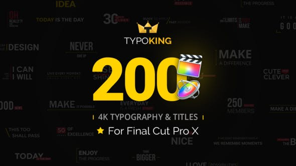 TypoKing - Animated Titles for Final Cut Pro X by Pixflow