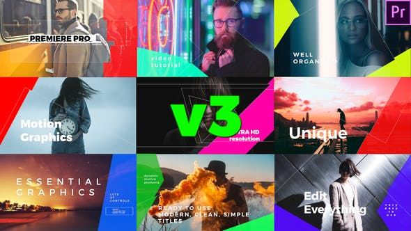 Simple Mogrt Graphics Titles by edum | VideoHive