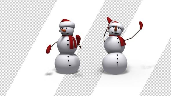 Christmas Dancing Cartoon.Christmas Snowman Dancing 2 Pack By Se5d Videohive