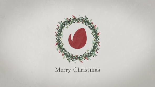 Christmas Wreath Logo By Treedeo Videohive