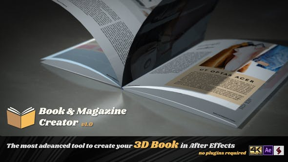 Videohive Book And Magazine Creator 23014927