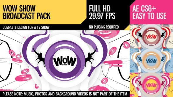 WoW Show (Broadcast Pack) by Dyomin | VideoHive