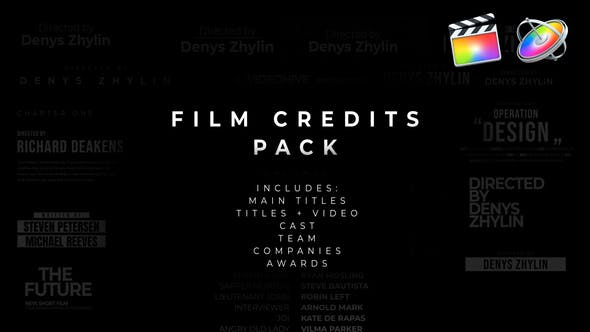 Film Credits Pack For Apple Motion And Fcpx By Cinemaeternal