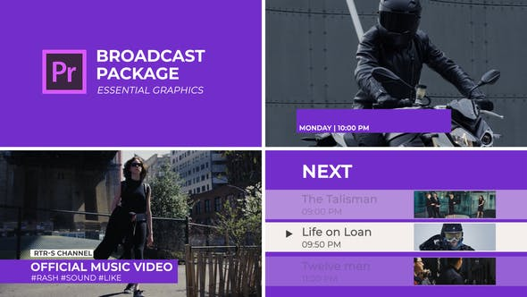 Broadcast Package | Essential Graphics | Mogrt - VideoHive product image