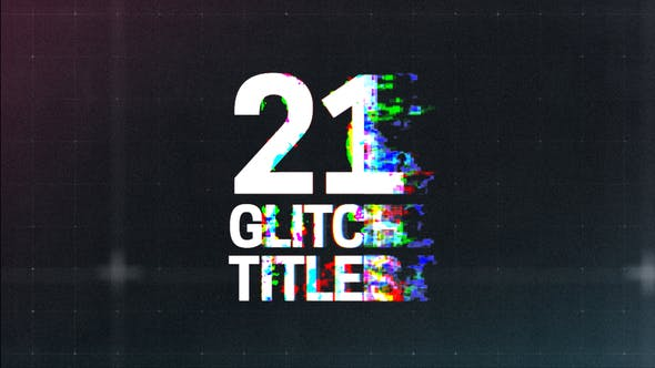 Videohive Glitch Titles 21698901 Free Download