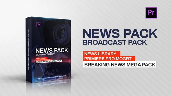 Premiere Pro News Library - Broadcast Pack