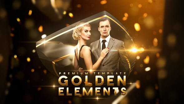 Videohive Golden Elements Free Download