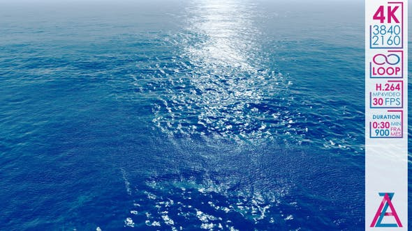 Blue Waves In The Ocean by Andrew_Zyrin | VideoHive